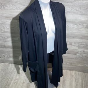 Chalet long black cardigan
